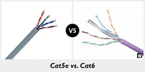 تفاوت کابل CAT5 و CAT6