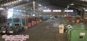 نمایی از کارخانه و ماشین آلات صنایع کابل کمان