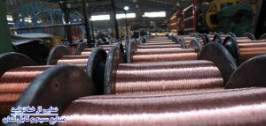 نمایی از خط تولید صنایع کابل کمان